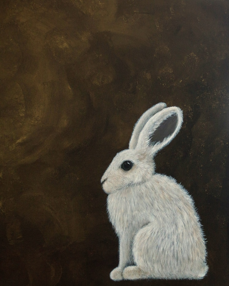 Mountain Hare painting